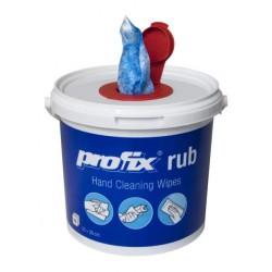 Profix Rub drėgnos abrazyvinės servetėlės plastikiniame dozatoriuje, 45g. 72 lap.