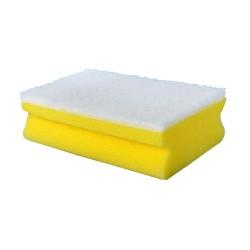 Kempinė geltona baltu padu, 14x6x4 cm