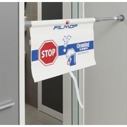 """Saugos durų ženklas """"Vyksta valymas"""", 76-137 cm."""