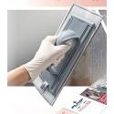 Mikrofibros šluostė langams, pilka, 30 cm
