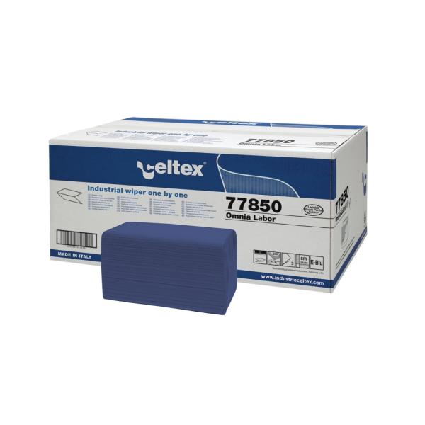 Popierinės servetėlės OMNIA LABOR, 3 sl., mėlynos, 230 lapeliu, 1 dėž. x 8 vnt.