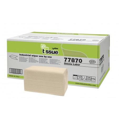 """Pramoninės servetėlės OMNIA LABOR """"E-Tissue"""", 2 sl., 300 lapelių, 1 dėž. x 8 vnt."""