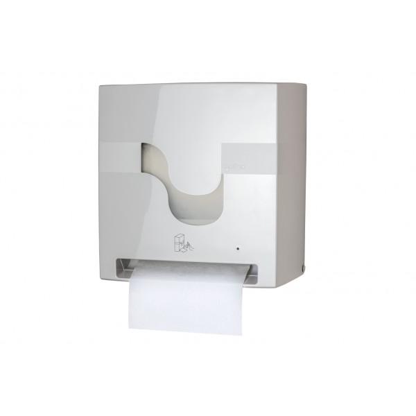 Automatinis laikikls E-CONTROL rankšluoščių rulonams , su baterijomis, baltas