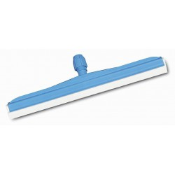 Mėlynas plastikinis grindų nubraukėjas su balta guma, 35 cm