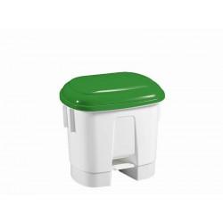 SIRIUS balta plastikinė šiukšlių dėžė su pedalu, 30 l.