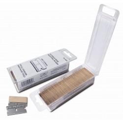 Dėžutė su geležtėmis (100 vnt.) 4 cm