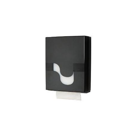Folded Hand Towel Black laikiklis servetėlėms